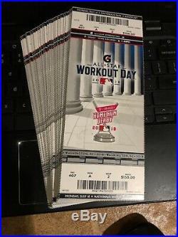 (100) LOT 2018 MLB All Star Game TICKET STUB HOME RUN DERBY BRYCE HARPER 7/16