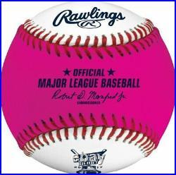 (12) Rawlings 2017 Official Pink Home Run Derby Moneyball Baseball Boxed Dozen
