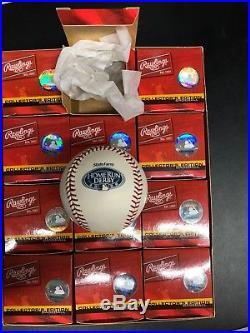 (12) Rawlings Official 2008 Home Run Derby Baseballs NY Yankees Morneau Champ