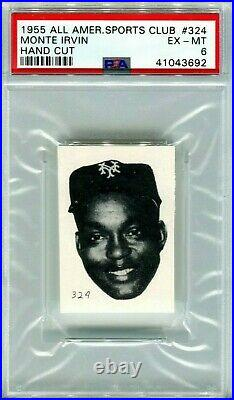 1955 All American Sports Club Monte Irvin PSA EX-MT 6 (RARE ONLY 7 PSA GRADED)