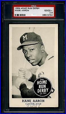 1959 Home Run Derby Hank Aaron. Graded Psa 2.5