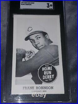 1959 Home Run Derby #16 Frank Robinson HOF SGC 3++ Looks Near Mint