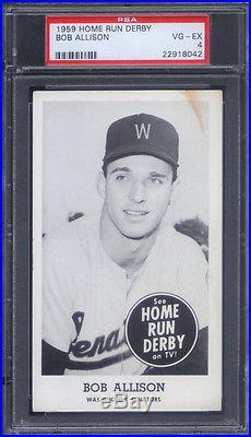 1959 Home Run Derby Bob Allison PSA 4 Washington Senators