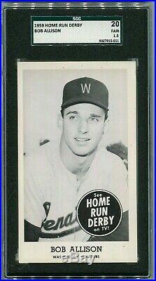 1959 Home Run Derby, Bob Allison Washington Senators, SGC TYPE CARD