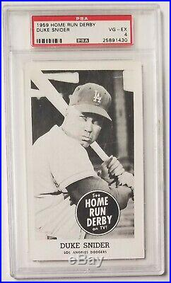 1959 Home Run Derby DUKE SNIDER PSA 4 VG/EX Rare Low Pop Los Angeles Dodgers