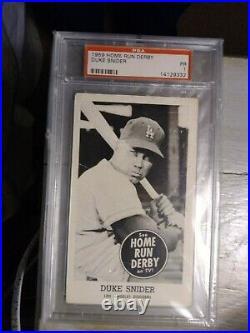 1959 Home Run Derby Duke Snider PSA 1