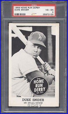 1959 Home Run Derby Duke Snider PSA 4
