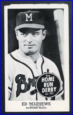 1959 Home Run Derby Eddie Mathews Braves Vg 332590 (kycards)