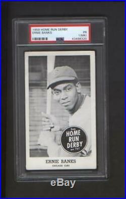 1959 Home Run Derby Ernie Banks Chicago Cubs PSA Graded Snyder's Motor Sales