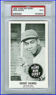 1959 Home Run Derby Ernie Banks PSA 5 EX Chicago Cubs HOF