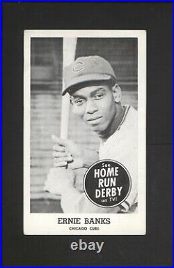 1959 Home Run Derby Ernie Banks with Snyder's Motor Sales Ad Back Studebaker