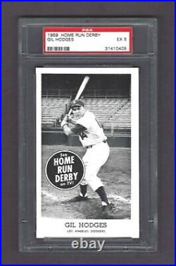 1959 Home Run Derby Gil Hodges PSA 5 Ex