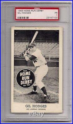 1959 Home Run Derby Gil Hodges Psa 1 Nq