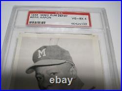 1959 Home Run Derby Hank Aaron PSA 4