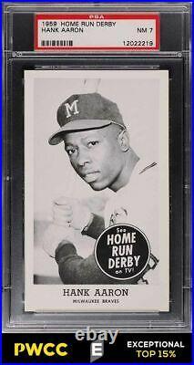 1959 Home Run Derby Hank Aaron PSA 7 NRMT (PWCC-E)