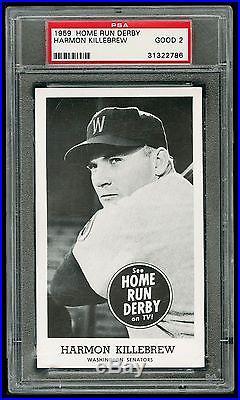 1959 Home Run Derby Harmon Killebrew PSA Graded Minnesota Twins