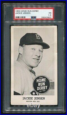 1959 Home Run Derby Jackie Jensen PSA 1.5 FR Red Sox