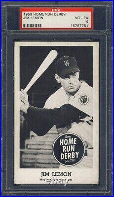 1959 Home Run Derby Jim Lemon PSA 4 Washington Senators