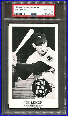 1959 Home Run Derby Jim Lemon PSA 8 ++ POP 1 NONE Higher Washington Senators