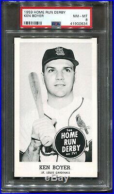 1959 Home Run Derby Ken Boyer PSA 8 ++ POP 1 NONE Higher St. Louis Cardinals