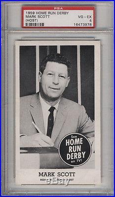 1959 Home Run Derby Mark Scott (Host) PSA 4