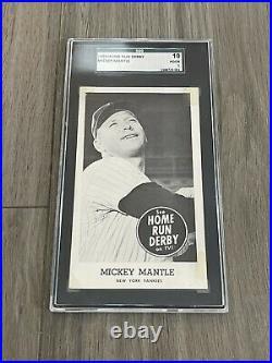 1959 Home Run Derby Mickey Mantle SGC 1