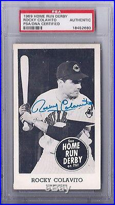 1959 Home Run Derby Rocky Colavito PSA/DNA Certified AUTHENTIC
