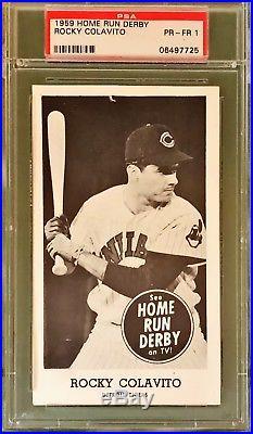 1959 Home Run Derby Rocky Colavito Psa 1 Detroit Tigers
