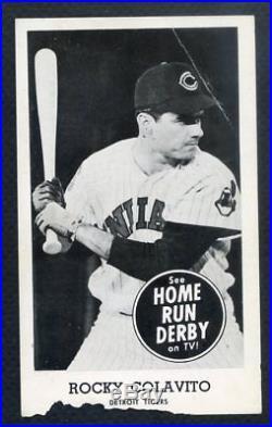 1959 Home Run Derby Rocky Colavito Tigers Gd-vg 332586 (kycards)
