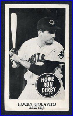 1959 Home Run Derby Rocky Colavito Tigers Vg-ex 316725 (kycards)