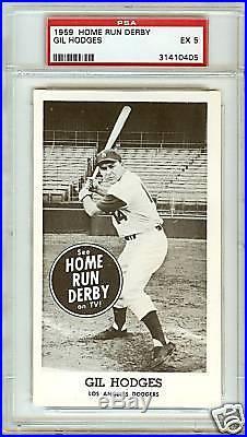 1959 Home Run Derby Set Gil Hodges PSA 5