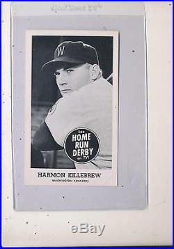 1959 Home Run Derby Topps Harmon Killebrew Washington Senators ex Rare