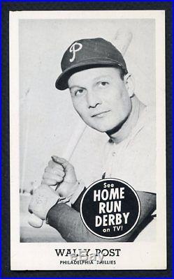 1959 Home Run Derby Wally Post Phillies Ex+/ex-mt 332591 (kycards)