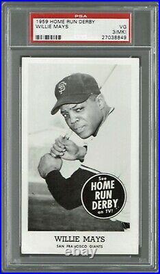 1959 Home Run Derby Willie Mays San Francisco Giants HOF PSA 3MK