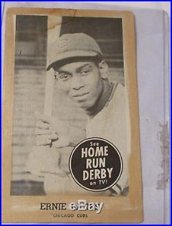 1959 ORIGINALeRNIE bANKS Home Run Derby Card