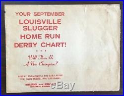 1961 Louisville Slugger Home Run Derby Chase Chart 353959