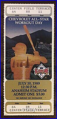 1989 All Star Game Home Run Derby Full Ticket Bo Jackson PSA Pop of 2