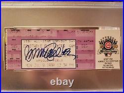 1990 All Star Game Home Run Derby Chicago Cubs Ticket Ryne Sandberg Signed PSA