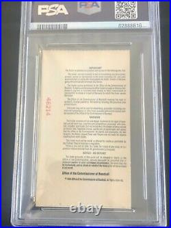 1994 Home Run Derby Ticket Stub Ken Griffey Jr. Winner PSA 7 Highest Graded Ever