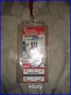 1997 all star Workout Day Home Run Derby Full TICKET Cleveland sandy alomar mvp