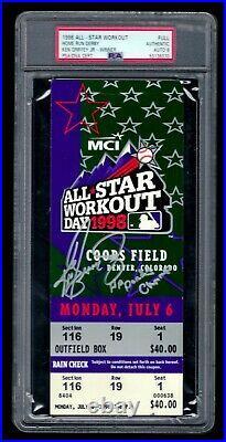 1998 Ken Griffey Jr. Autographed Home Run Derby full ticket (PSA/DNA 9 MINT)