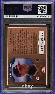 1998 Leaf Rookies & Stars Home Run Derby Chipper Jones /2500 #16 PSA 9 MINT