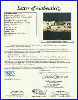 1999 Home Run Derby Signed Bat Ken Griffey Jr Mark Mcgwire Sammy Sosa Beckett