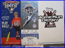 2003 MLB All Star game, Home Run Derby, Fan Fest tickets, Chicago, US Cellular