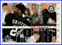 2003 UD ULTIMATE Ken Griffey JR BUY BACK ALL STAR HOME RUN DERBY Auto 33/50