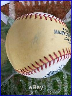 2005 Home Run Derby Game Used Gold Rawlings Baseball Logo Ball Mark Teixeira