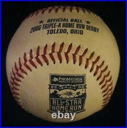2006 AAA All Star Home Run Derby Game Used Baseball Mudhens VERY RARE Rawlings
