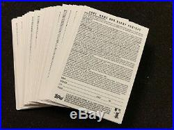 2007 Topps Home Run Derby unredeemed complete set of 50