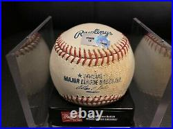 2008 Home Run Derby Lance Berkman Rd. 1 Out #6 Used Baseball -MLB Authentication