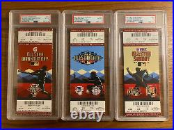 2011 MLB All Star Game Ticket Stub PSA Graded Lot (Home Run Derby, Futures Game)